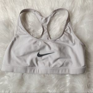 Nike Pro White Reversible Sports Bra Medium